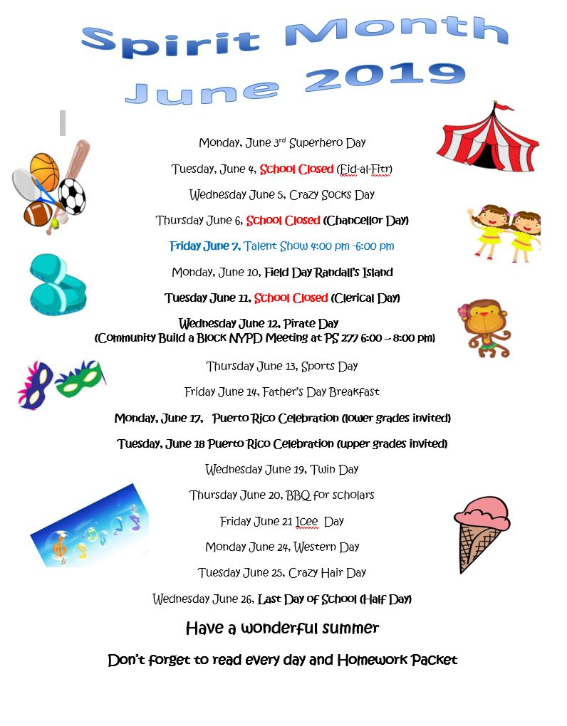 Spirit Month June 2019